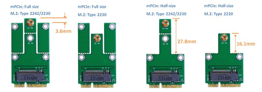 M2mu2 M 2 Ngff To Mini Pci E Adapter